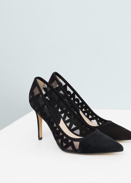 noire chaussure talons Mango