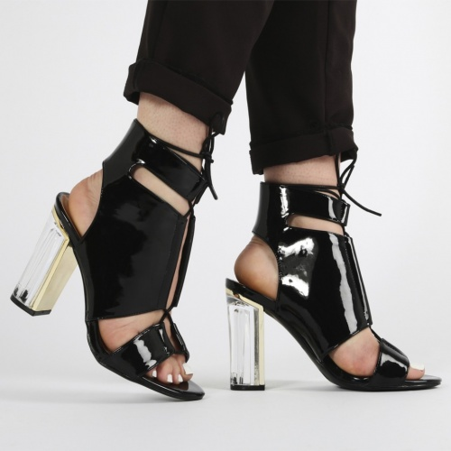 noire chaussure talons Public Desire