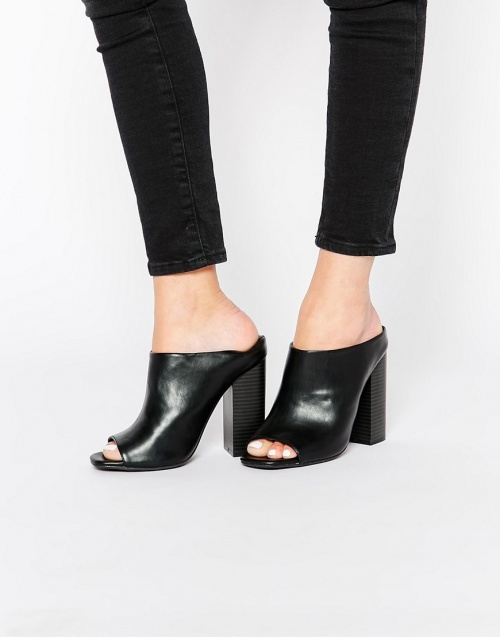 noire chaussure talons Missguided