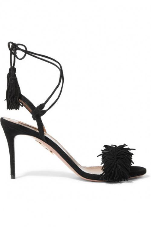noire chaussure talons aquazzura