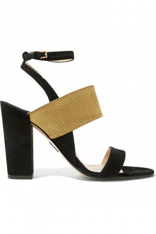 noire chaussure talons Paul Andrew