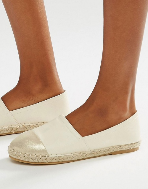 Daisy Street espadrilles cuir bout