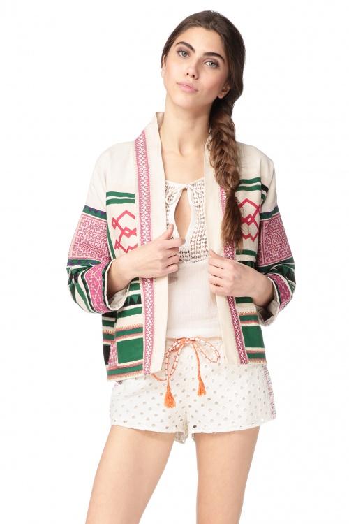 Nina Kaufmann veste ethnique courte japonisante
