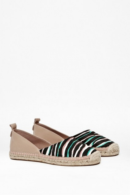 French Connection espadrilles bicolores