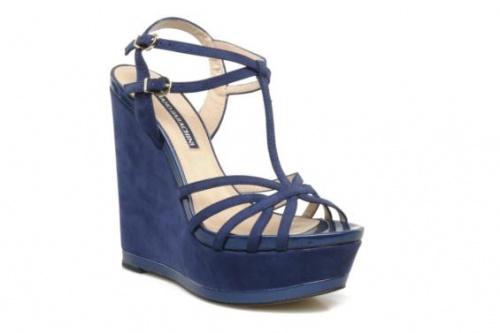 Luciano Barachini  sandales compensées bleues
