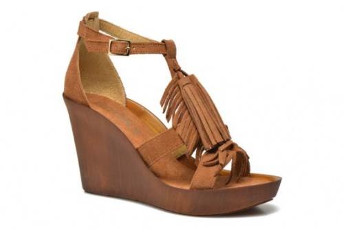 Bronx sandales franges compensées