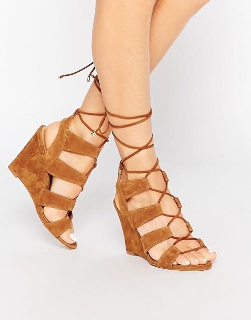 Aldo  sandales compensées laçage