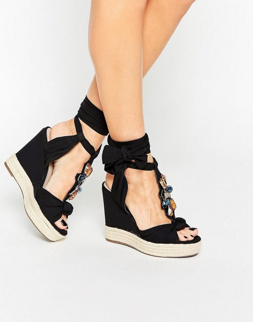 Asos  sandales compensées bijoux