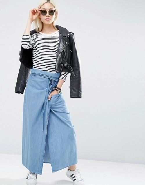 asos jupe longue jean