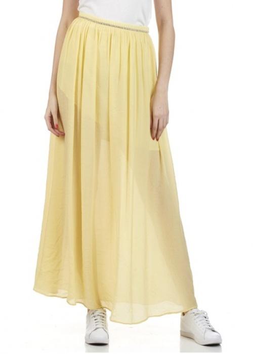 Suncoo jupe longue fluide jaune
