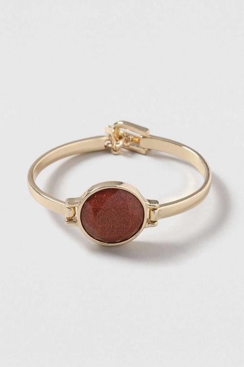 Topshop - Bracelet pierre ronde