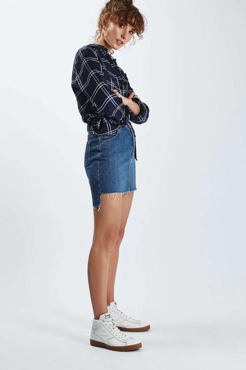 Topshop jupe jean asymétrique