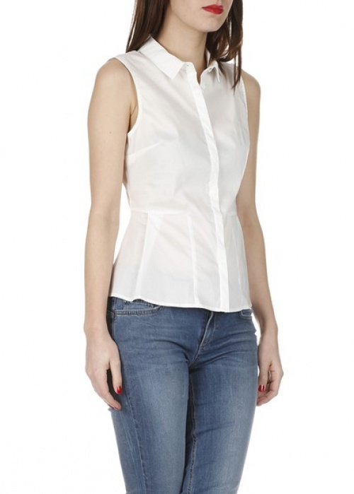 Liu Jo chemise à basques blanche sans manche