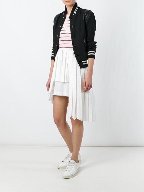 Off-White jupe asymétrique plissée