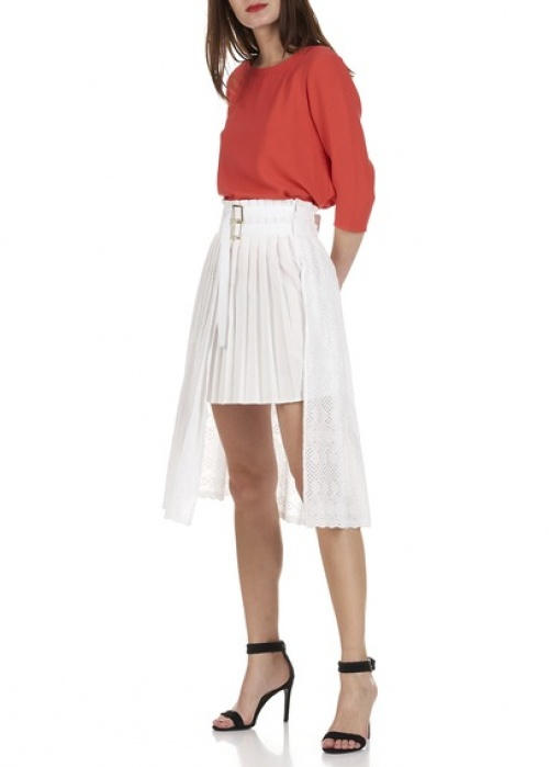Liu Jo jupe plissée dentelle asymétrique