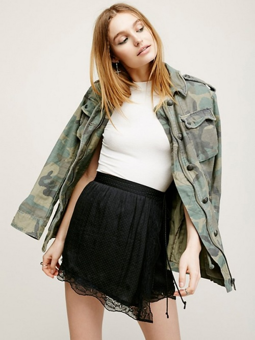 Free People jupe satin asymetrique