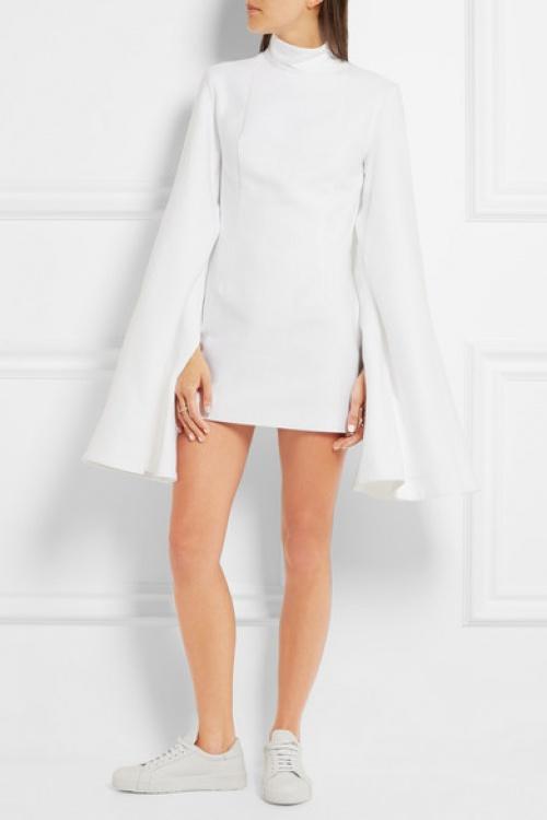 Jacquemus - Robe blanche manches cape