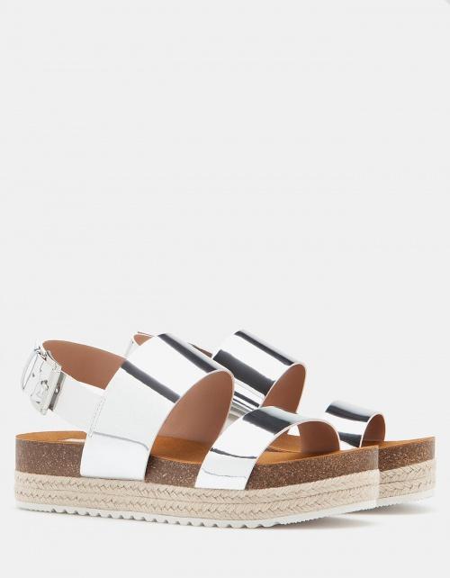 Stradivarius sandales argentés