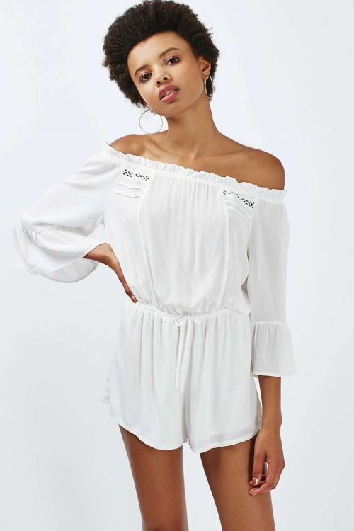 Topshop  combishort blanche manches longues