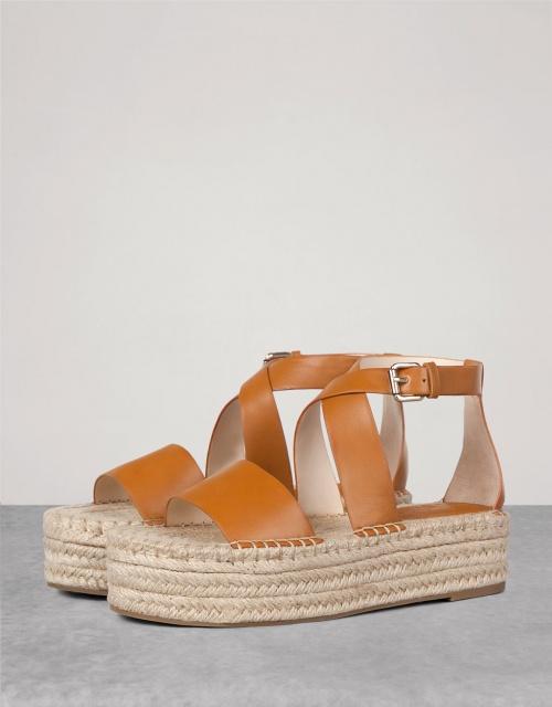 Bershka sandales plateforme camel