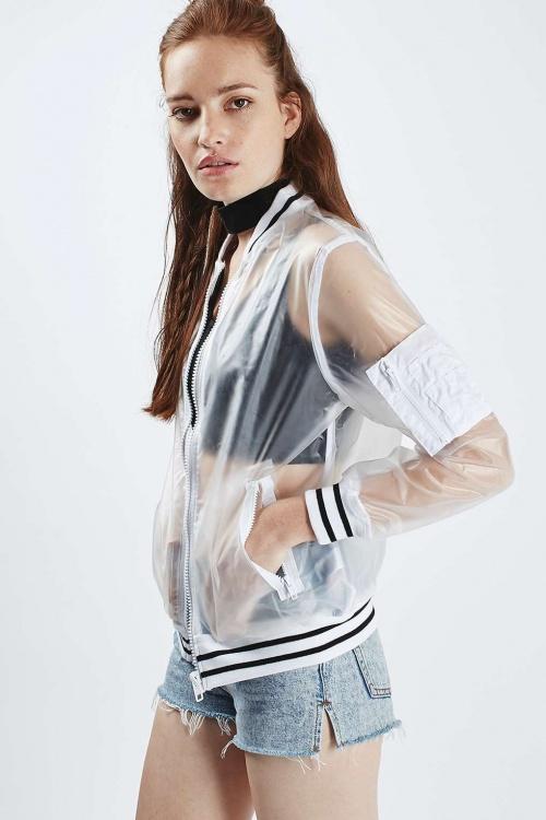 Topshop - Bomber  transparent sportswear