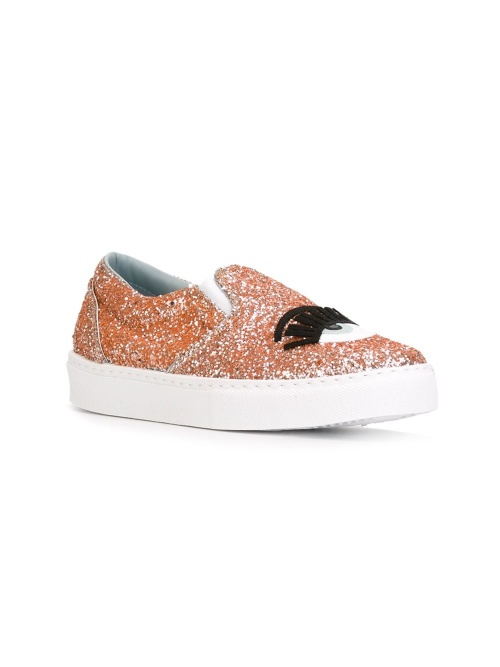 Chiara Ferragni - Slip on  paillettes orange