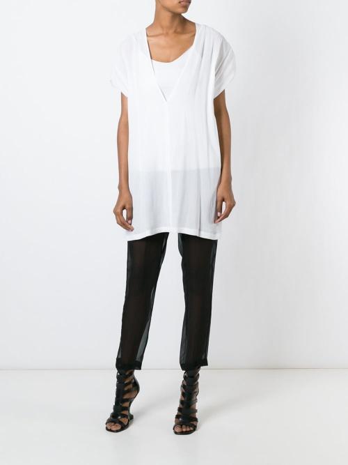Ann Demeulemeester - Pantalon noir transparent