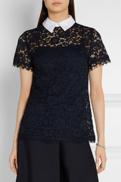 Michael Kors  top transparent noir dentelle