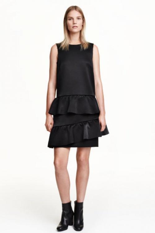 H&M - Robe volantée noire