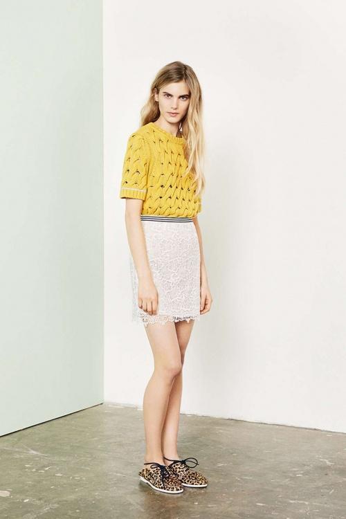 Topshop jupe courte sportswear dentelle