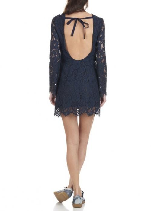Tara Jarmon  robe bleu décolleté dos noeud