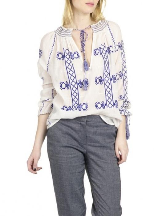 Christophe Sauvat blouse ethnique brodée