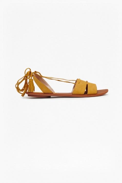 French Connection sandales de plage jaune