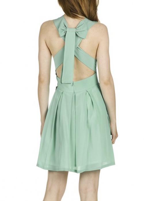 Ella Luna - Robe dos noeud vert d'eau