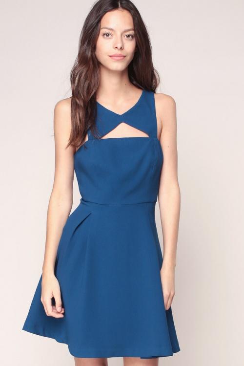 BCBGeneration  robe bleu ajourée