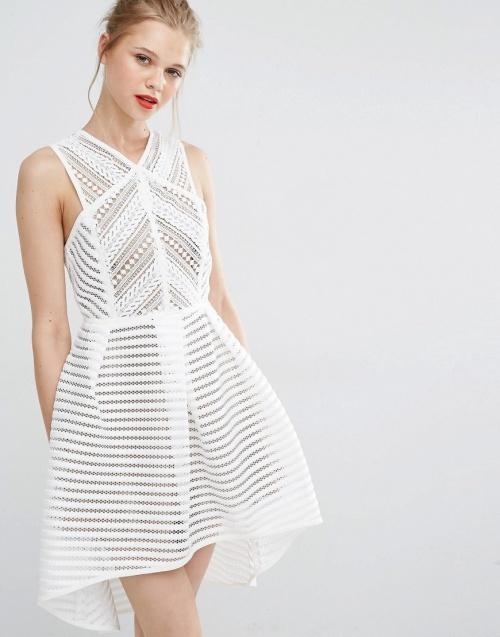 Supertrash robe patineuse airtex blanc