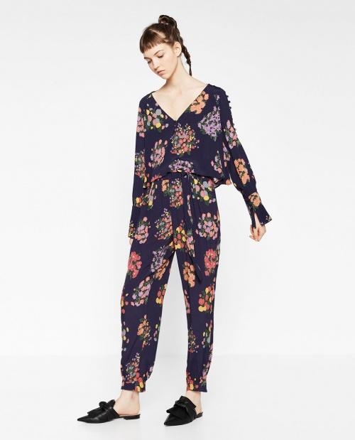 Zara - Pantalon fleuris