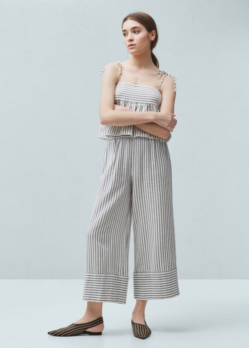 Mango - Pantalon à rayures