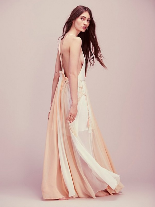 Free people maxi dress de plage