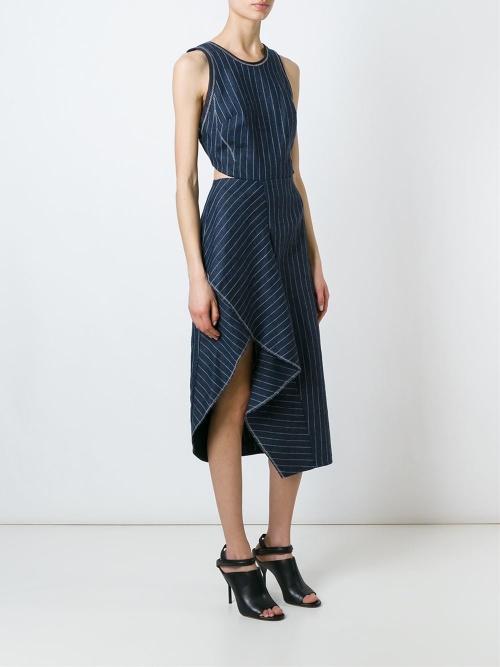3.1 Philip Lim robe denim découpes taille