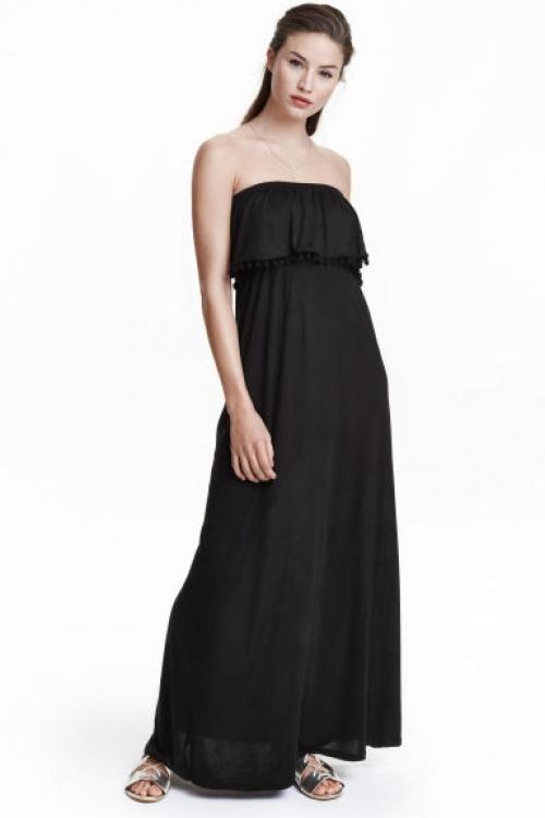 H&M robe longue maxi size bandeau noire