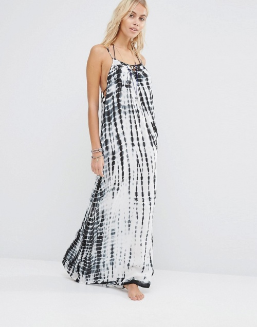 Surf Gypsy robe longue imprimé tie and dye