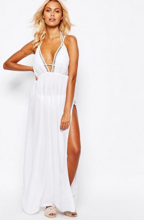 Asos robe de plage longue blanche