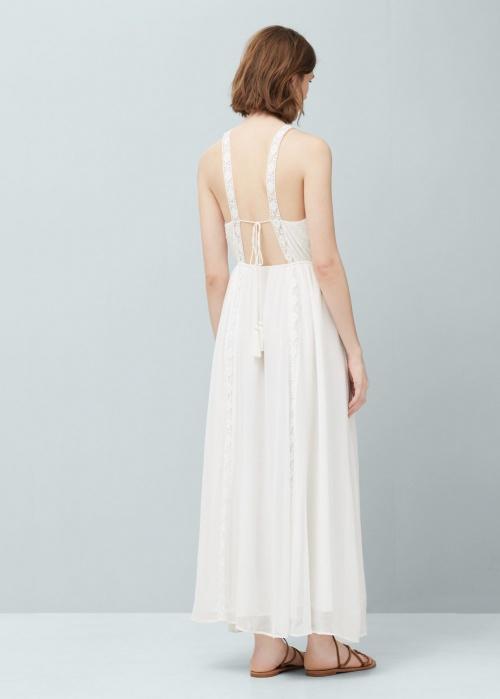 Mango robe blanche dos nu lacet