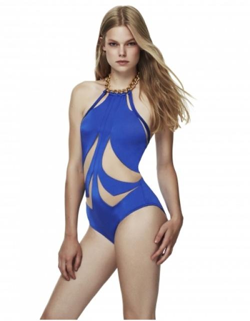 Moeve London - Trikini découpe bleu électrique