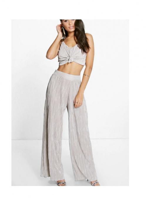 Boohoo - Ensemble pantalon large lamé