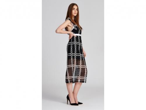 Alice McCall  robe noire et blanche dentelle