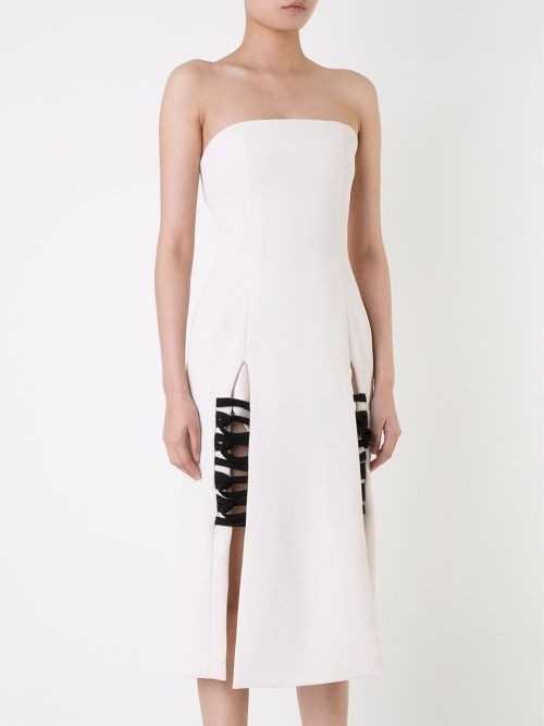 christophe esber robe blanche carwash lacets noirs