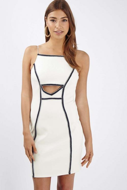 Topshop robe noir et blanc