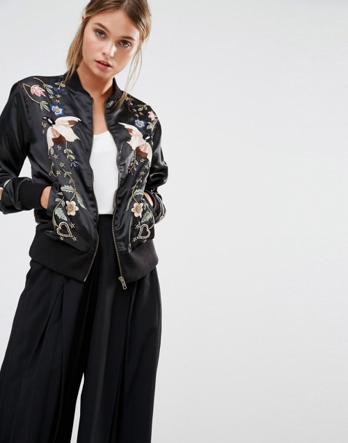 Frock and Frill bomber brodé japonisant